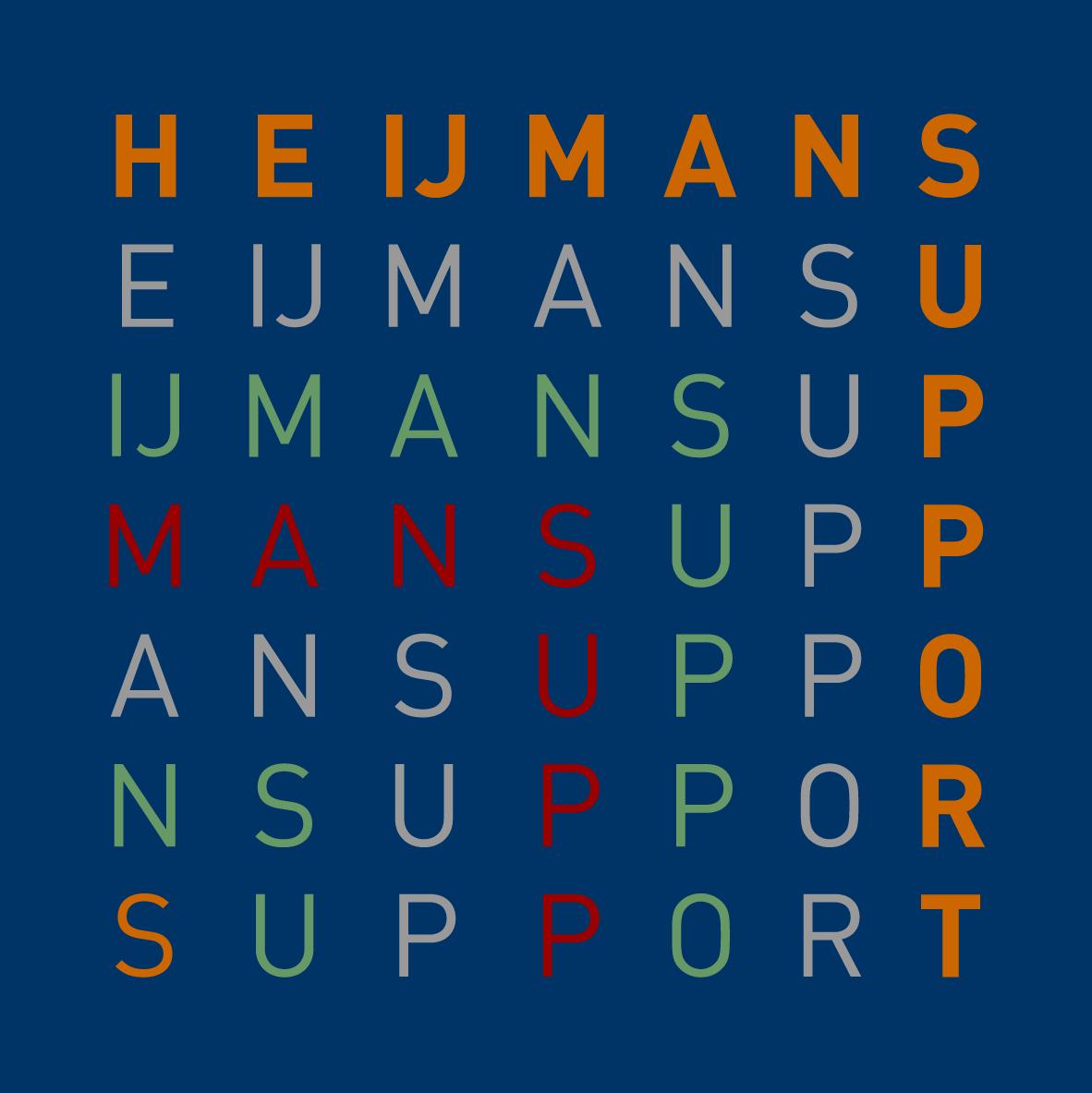 logo Heijmans Support BLAUW