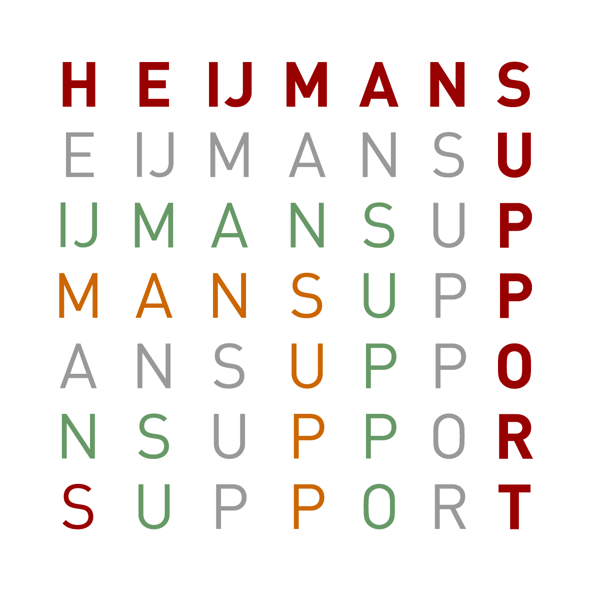 logo Heijmans Support WIT
